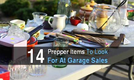 Budget Preppers, 14 Items To Look For At Garage Sales