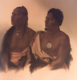 Portraits of an Otoe and a Ponca chief