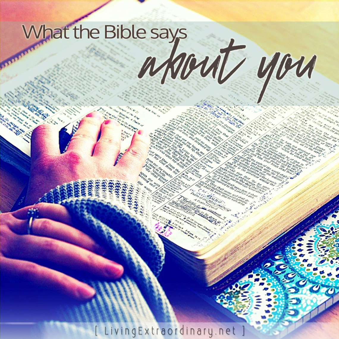 check out what the Bible says about you