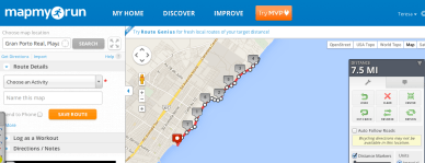 Use MapMyRun to choose a route
