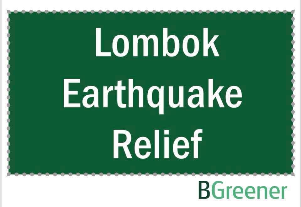 Lombok earthquake relief effort