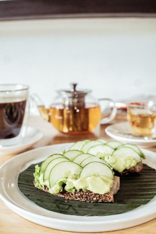 Avocado Toast (Green Lettuce, Crushed Avocado, Lime & Salt, Cucumber)