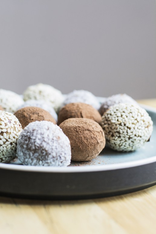 Sesame Ball, Coconut Ginger Ball & Chocolate Ball