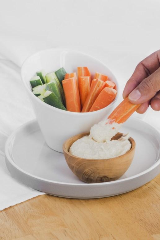 Veggie Sticks & Smoked Hummus (Smoked Chickpea Hummus, Kaffir Lime Dukkah, Crudité)