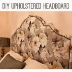 our DIY upholstered headboard