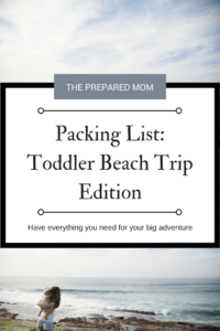 packing list toddler lake