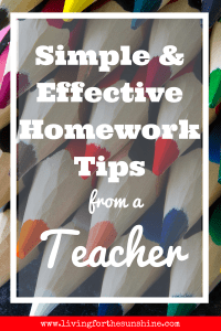Homework Tips for Kids