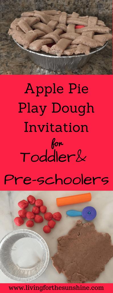 apple pie play dough invitation