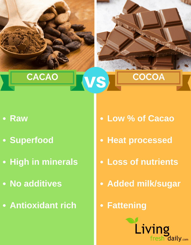 Raw Cacao vs. Cocoa