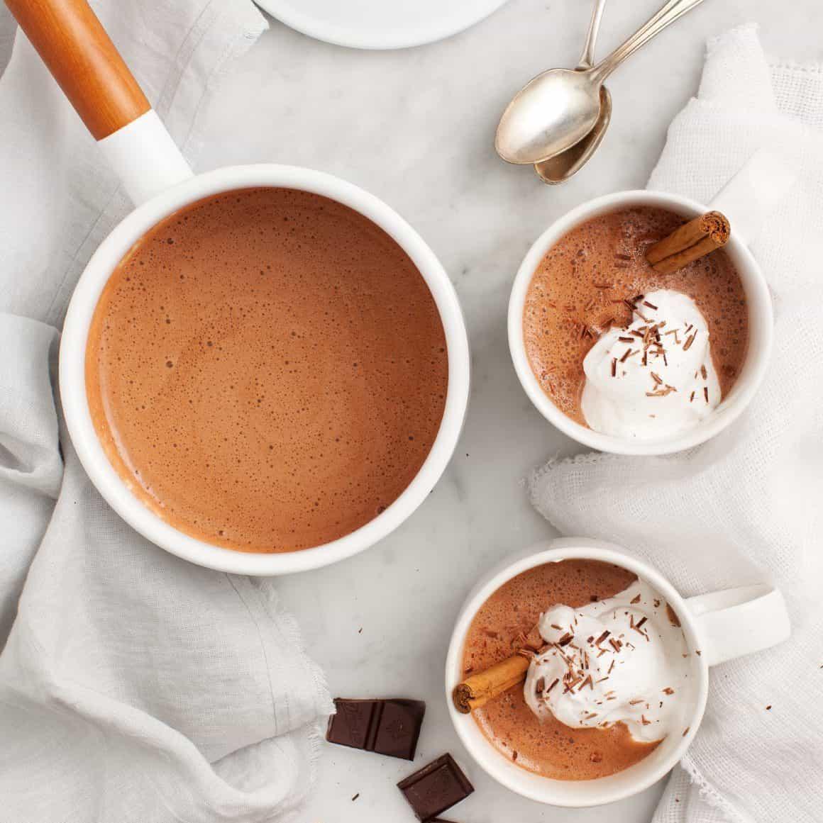 maca cacao hot chocolate www.servedfromscratch.com/vegan-cashew-cacao-bliss-balls/