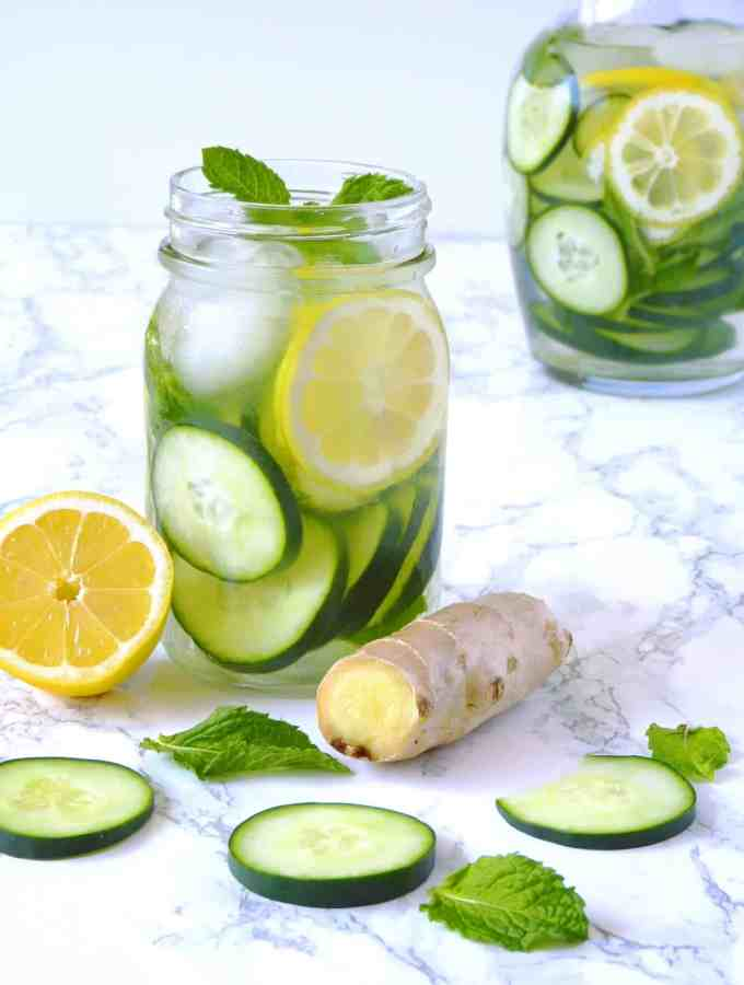Cucumber Lemon Ginger Water