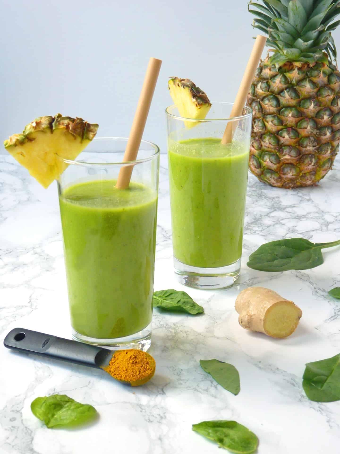 Pineapple Turmeric Anti-inflammatory smoothie
