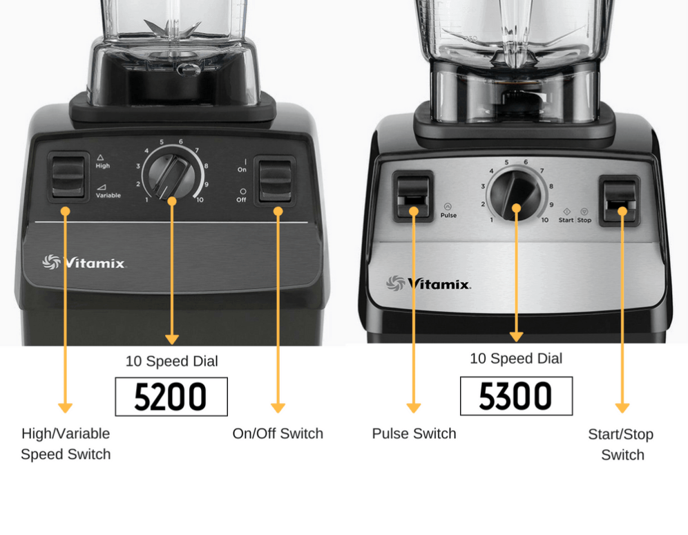 Vitamix 5200 vs 5300 settings