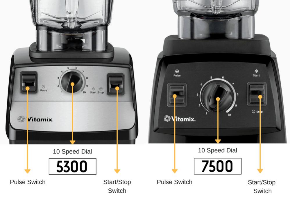 vitamix 5300 vs 7500 controls