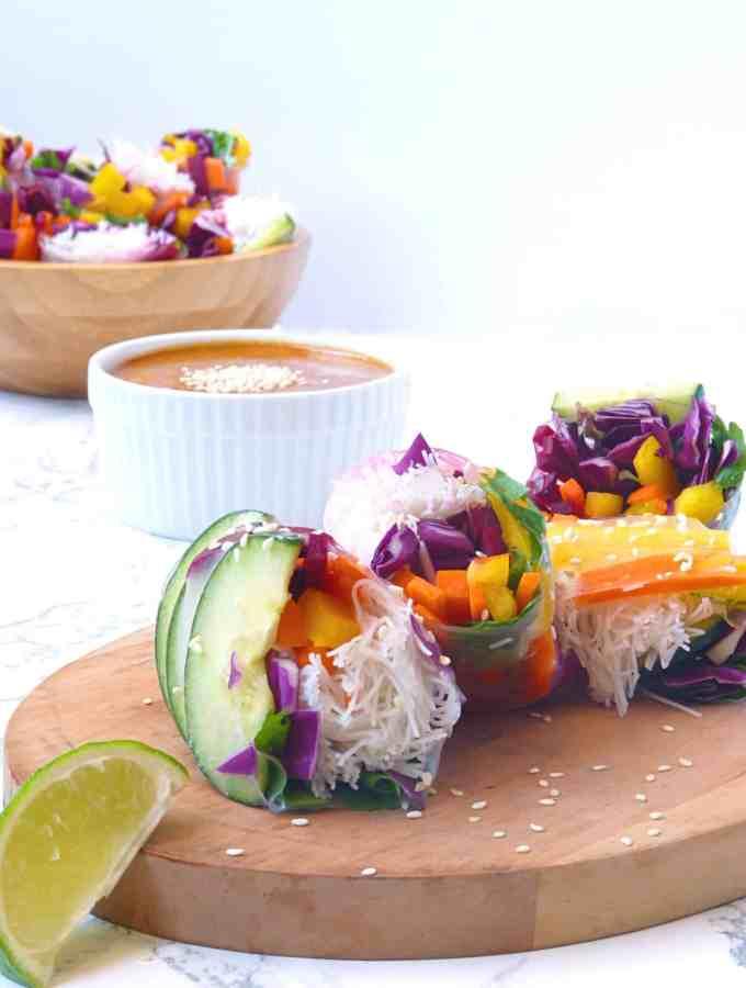 Rainbow Vegan Spring Rolls
