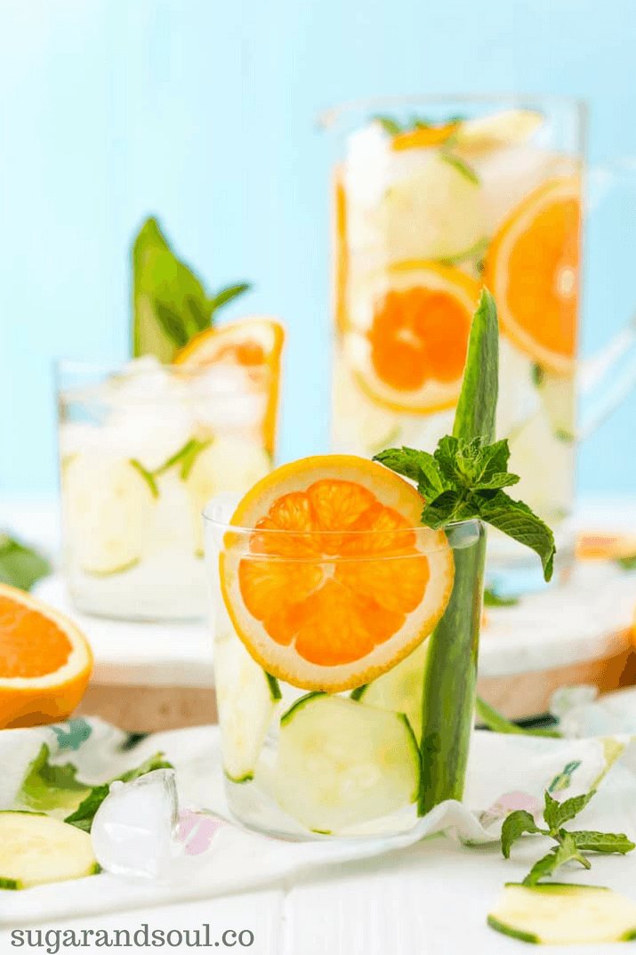 Orange infused water for weight loss