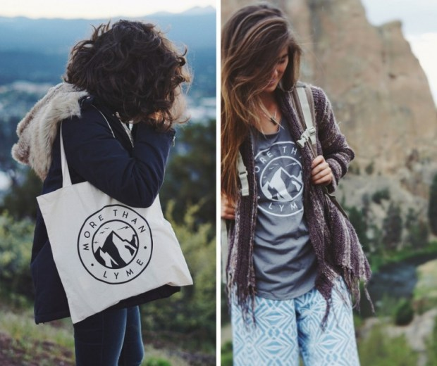 More Than Lyme Keep on Keepin' On Tee and Canvas Tote