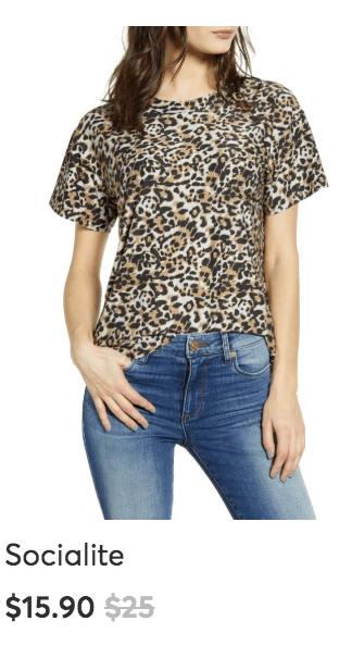 leopard tshirt