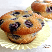 Low Carb Paleo Blueberry Muffin - Living Healthy With Chocolate