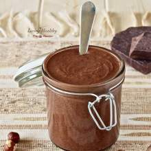 Paleo DIY Homemade Nutella Chocolate hazelnut spread - living healthy with chocolate