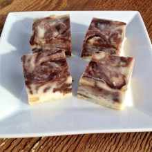 macadamia nut butter chocolate swirl fudge