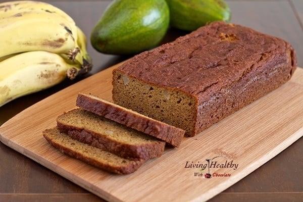 Avocado Banana Bread (gluten/grain/dairy-free, Paleo/Vegan)