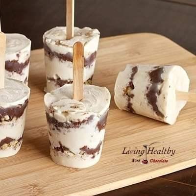"""Nutella"" Layered Ice Cream Pops"