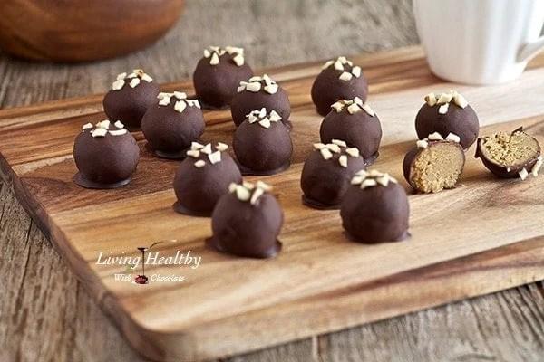 """paleo healthy """"peanut"""" butter truffles"""