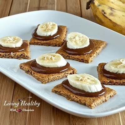 Paleo Graham Crackers Topped With Homemade Nutella & Bananas
