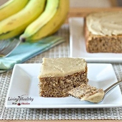 Paleo Banana Poppy Seed Cake With White Chocolate Vanilla Bean Frosting
