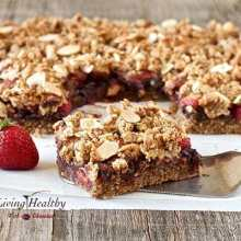 Chocolate-Strawberry Crumble Bars (paleo, grain-free, gluten-free, dairy-free, sugar-free, low-carb)