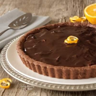 Dark Chocolate Orange Almond Tart (gluten/grain/dairy-free)