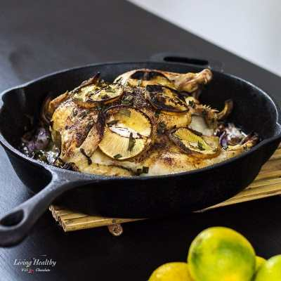 Roasted Cinnamon Lemon Chicken (Paleo, gluten-free) by #LivingHealthyWithChocolate