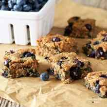 Soft-Baked Blueberry Squares (Gluten-free, Paleo)