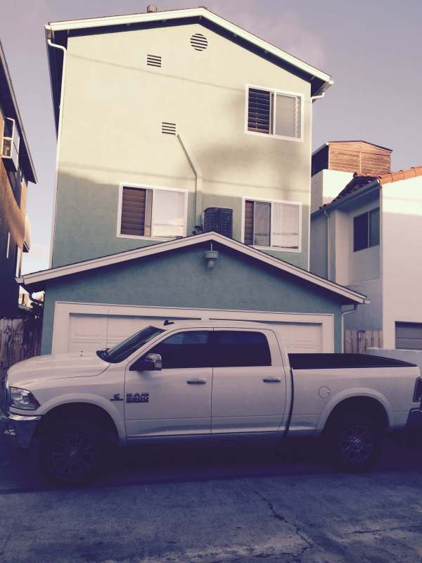 The Beast, parked in the alley behind our house in Coronado