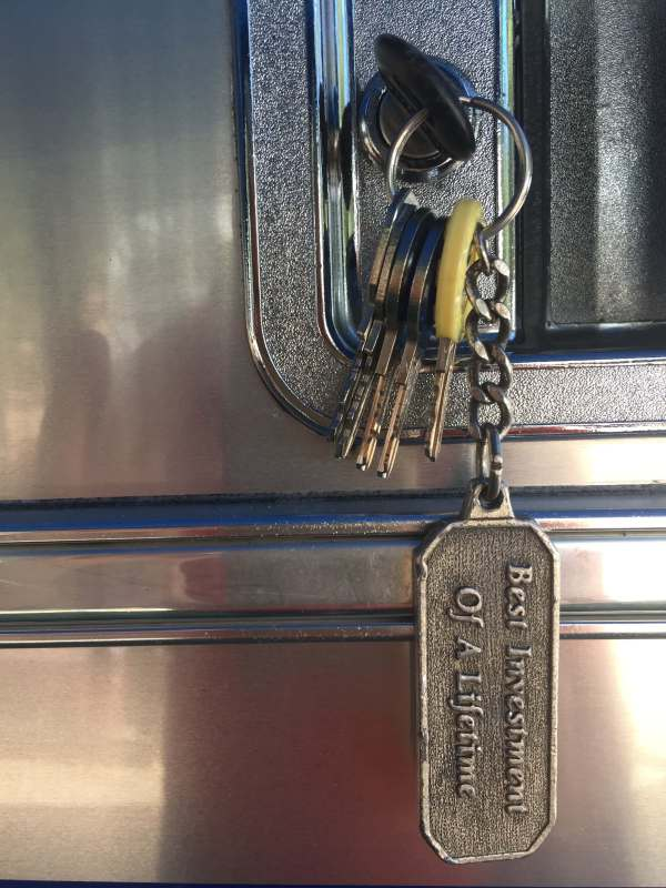 Our keys as they came with the trailer.