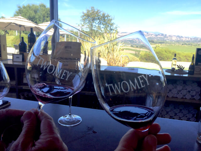 Wine tasting at Twomey Vineyards in California's Sonoma Valley
