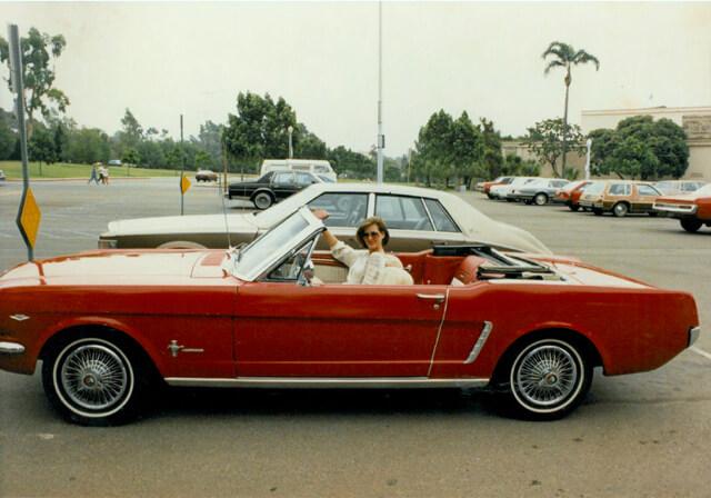 Carmen's 1964 Mustang Convertible.