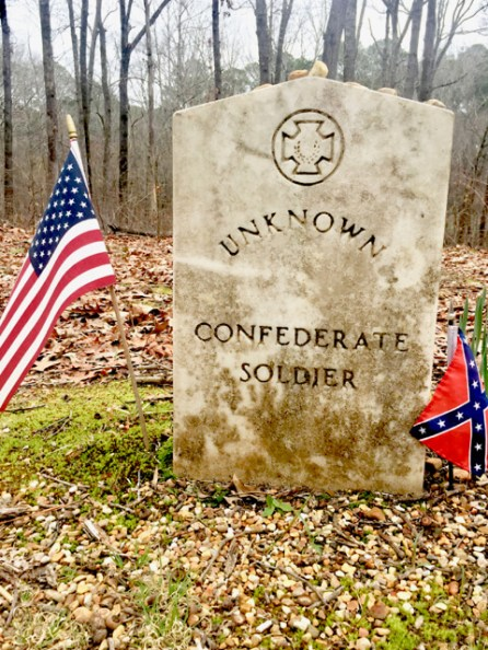 Unknown Confederate Soldier grave marker