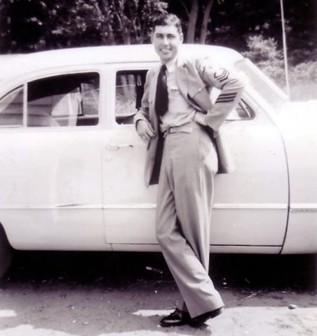 Jim's Dad after a drive down the Trace in the 1940's