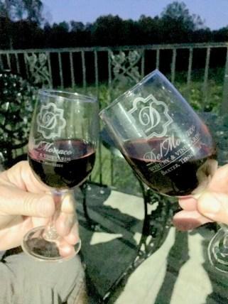 Wine on the deck at DelMonaco