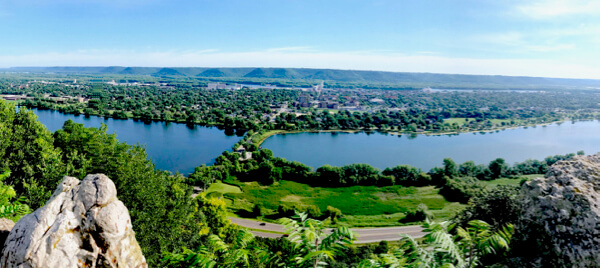 Winona, view from the bluffs
