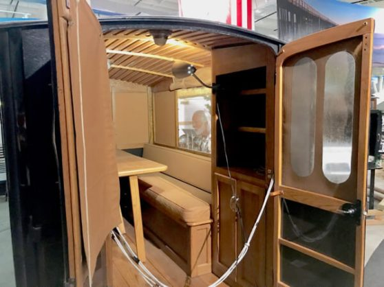 The insides of this 1913 trailer was beautiful