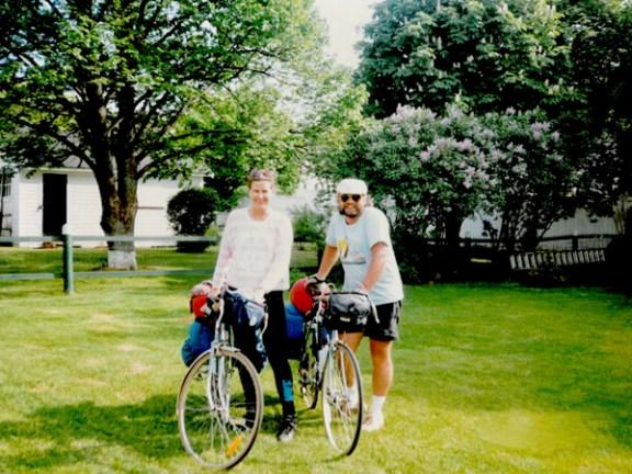 Biking through Prince Edward Island - 1990
