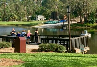 Disney's Fort Wilderness campground fishing piers