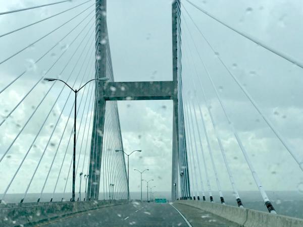 Talmadge Memorial Bridge, downtown Savannah
