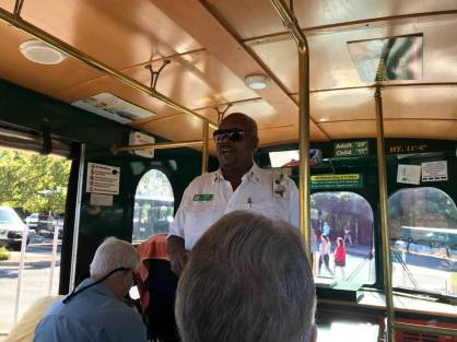 We rode three buses over the course of the day and all of the guides gave us their valuable local perspective of Savannah.