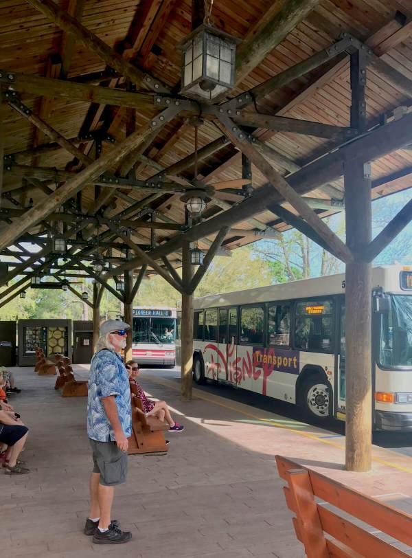 Disney's Fort Wilderness campground bus system