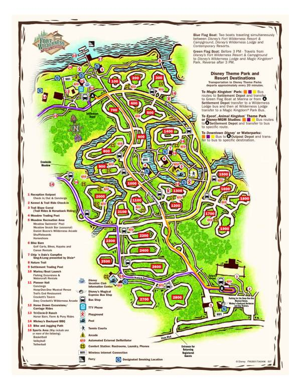 Disney's Fort Wilderness campground map