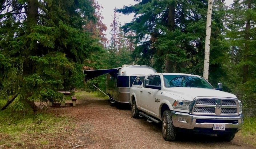 Whistler's Campground in Jasper National Park, Alberta Canada